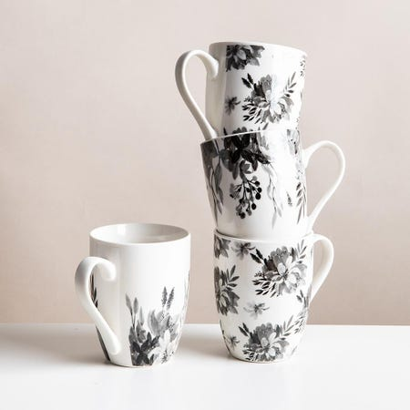 99037_KSP_Graphic_'Bloom'_Mug___Set_of_4__White_Black