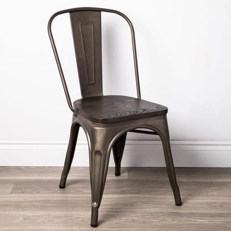 99042_KSP_Toli_'W_Wood_Seat'_Metal_Chair__Gunmetal
