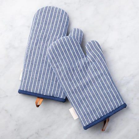 99097_Harman_Gourmet_'Chambray_Stripe'_Cotton_Oven_Mitt___Set_of_2__Blue