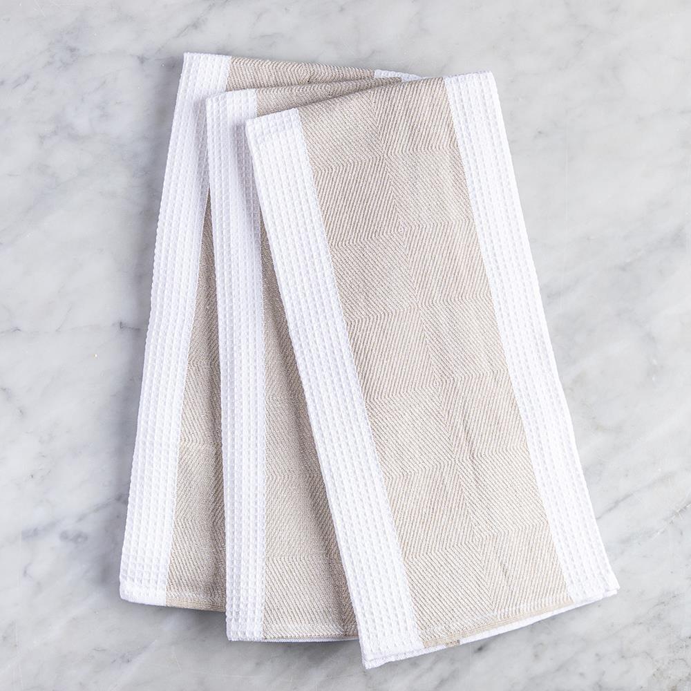 99109_Harman_Premium_Quality_'Blocks'_Kitchen_Towel___Set_of_3__Tan