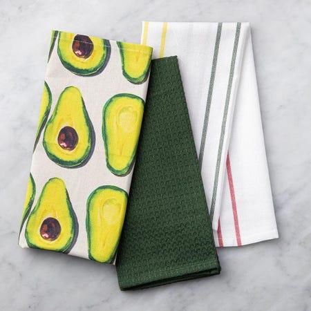 99115_Harman_Combo_'Market_Avocado'_Cotton_Kitchen_Towel___Set_of_3