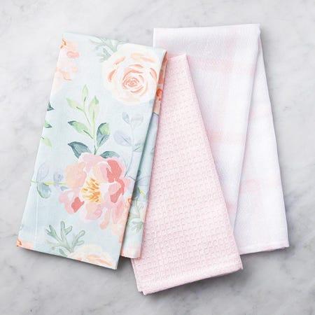 99117_Harman_Combo_'Floral'_Cotton_Kitchen_Towel___Set_of_3__Peach
