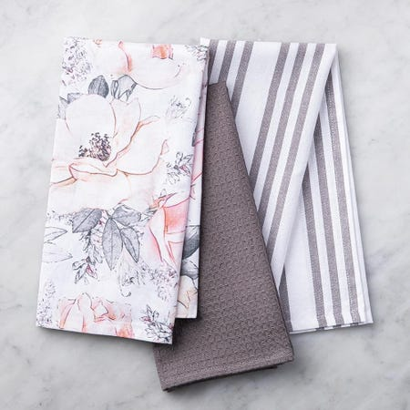 99118_Harman_Combo_'Floral'_Cotton_Kitchen_Towel___Set_of_3__Pink