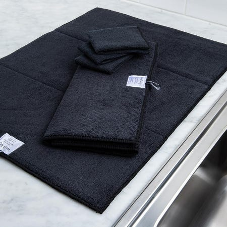 99146_Harman_Well_Kept_Microfibre_Dish_Drying_Mats_and_Cleaning_Cloths_Black