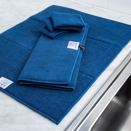 99148_Harman_Well_Kept_Microfibre_Dish_Drying_Mats_and_Cleaning_Cloths_Navy