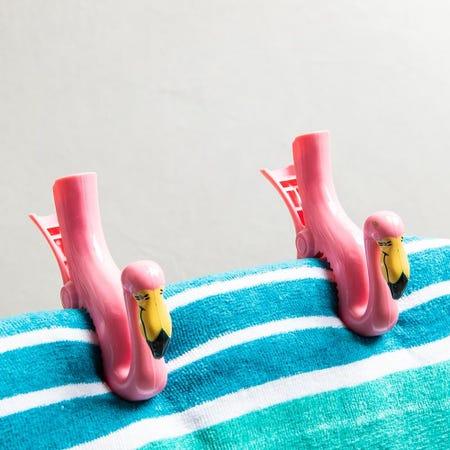 99156_O2cool_Boca_'Flamingo'_Decorative_Towel_Clip___Set_of_2