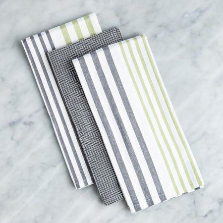 99173_Harman_'Urban_Stripe'_Cotton_Kitchen_Towel_Combo___3_Pc_Set__Green