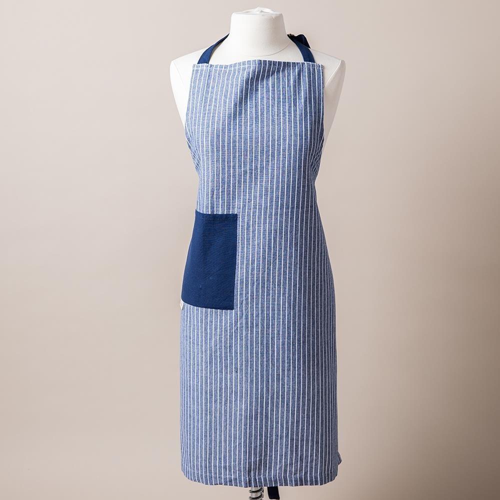 99178_Harman_Printed_'Chambray_Stripe'_Cotton_Apron__Blue