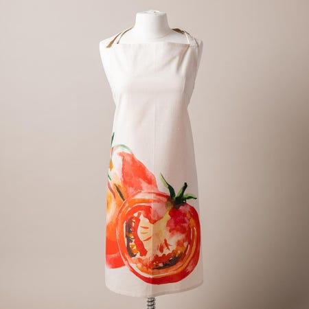 99181_Harman_Printed_'Market_Tomato'_Cotton_Apron__Natural