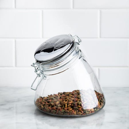 99217_Circleware_Paw_Print_'Small'_Pet_Treat_Canister_with_Lid