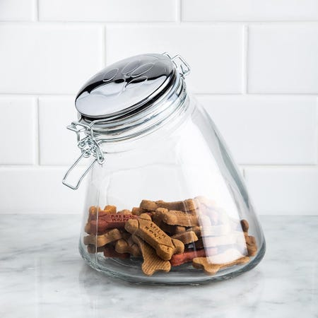 99218_Circleware_Paw_Print_'Large'_Pet_Treat_Canister_with_Lid
