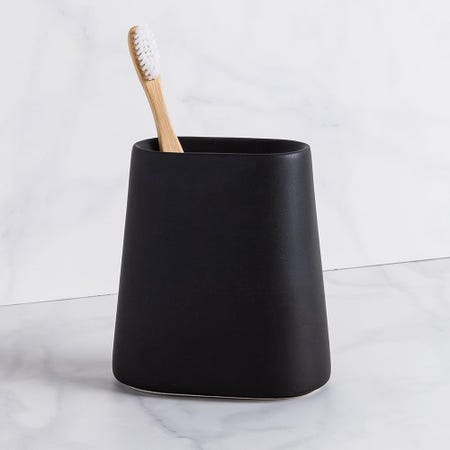 99221_Moda_At_Home_Crater_Ceramic_Toothbrush_Holder__Black