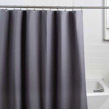 99227_Moda_At_Home_Belgian_Cotton_'Waffle'_Shower_Curtain__Grey