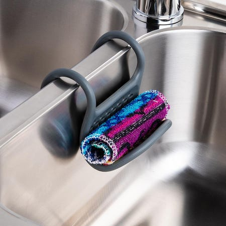 99271_Umbra_Sling_Silicone_Flexible_Sink_Caddy__Charcoal