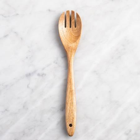 L Gourmet Wood Spooned Fork