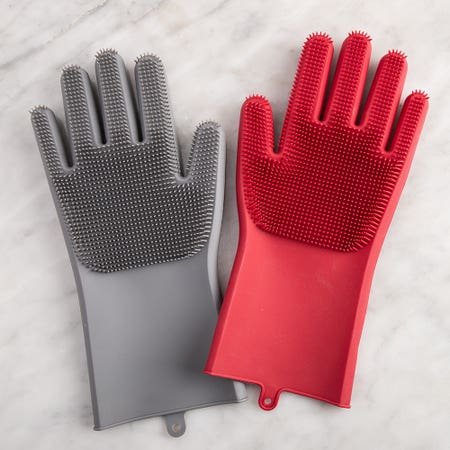 L Gourmet Silicone Scrub Glove