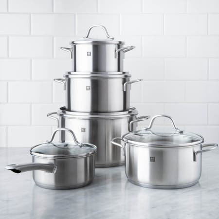 ZWILLING Flow Cookware Combo - 10 Pc Set (Brushed St/St)