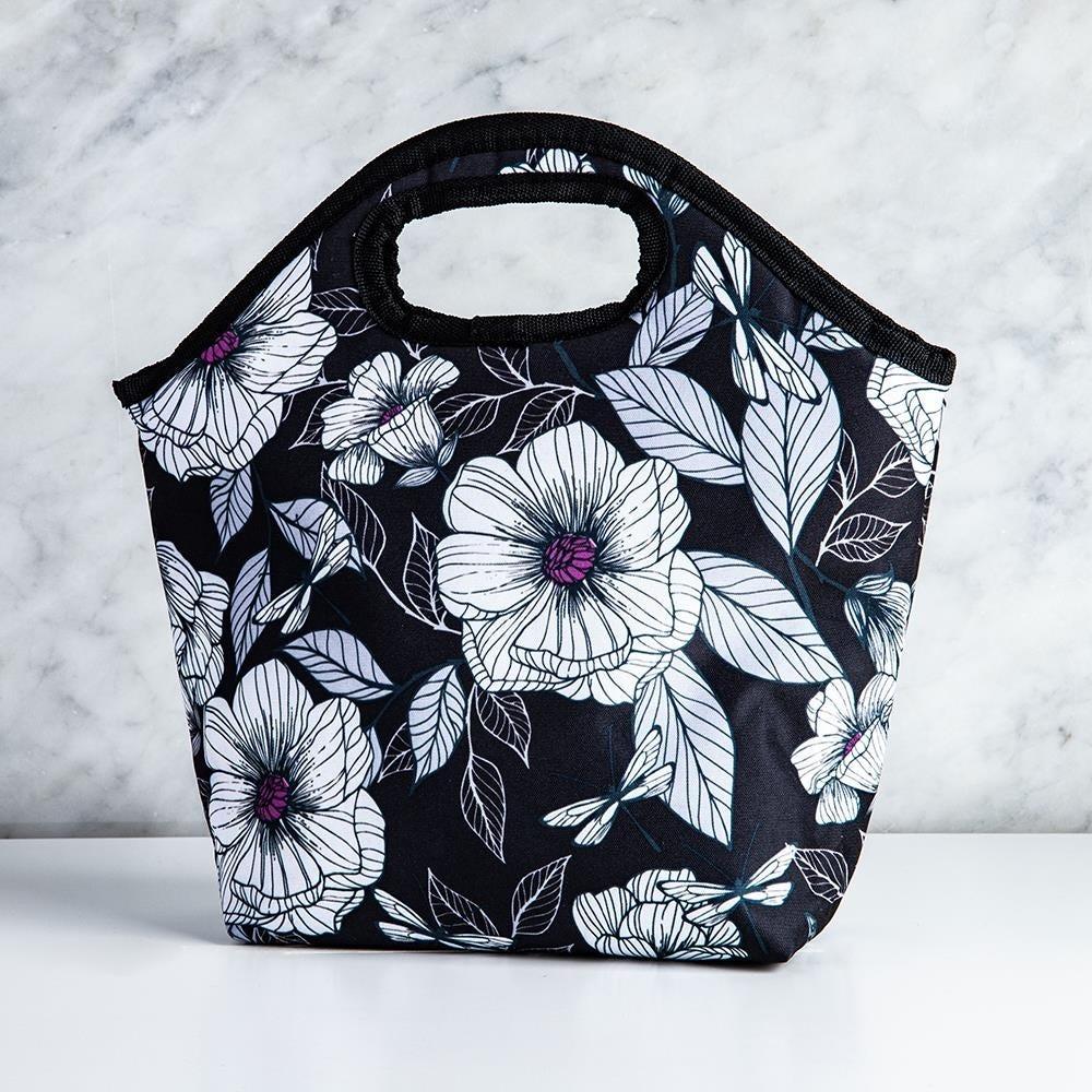 99346_KSP_Bella_'Flora'_Insulated_Lunch_Bag__White_Black