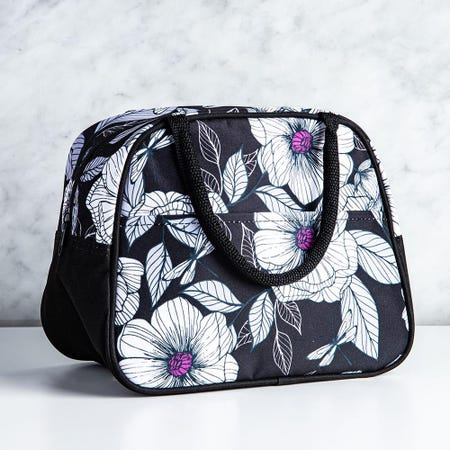 99348_KSP_Duffle_'Flora'_Insulated_Lunch_Bag__White_Black