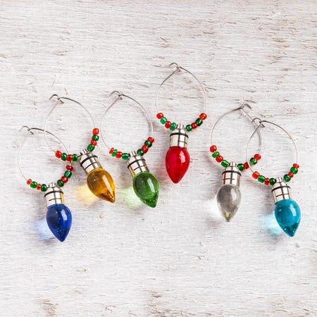 99361_KSP_Christmas_Glass_'Light_Bulb'_LED_Wine_Charm___Set_of_6