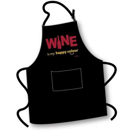 99397_Grimm_Phrase_'Wine_Happy_Colour'_100__Cotton_Apron__Black