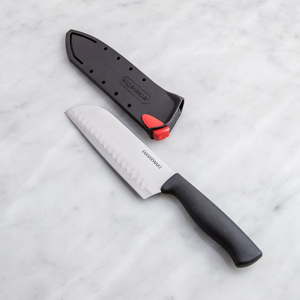 "Farberware Edgekeeper Santoku Knife 5"" with Sleeve (Black)"