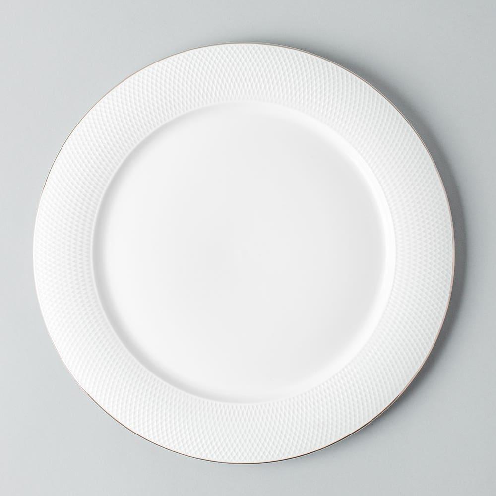 KSP A La Carte 'Diamond Platinum' Porcelain Dinner Plate
