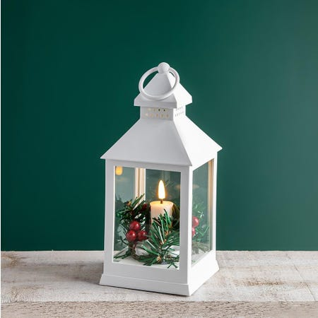 99521_KSP_Christmas_Holly_'Holly_Wreath'_LED_Plastic_Lantern__White