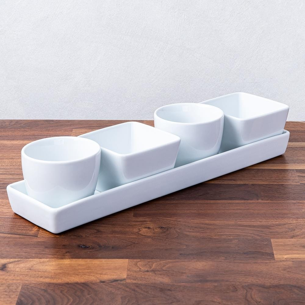 99526_KSP_Host_Porcelain_Mini_Bowls_with_Tray___Set_of_5__White