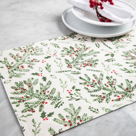 99537_Harman_Christmas_Holly_Cotton_Placemat