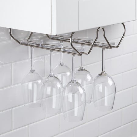 99544_KSP_Under_Cabinet_Wine_Glass_Rack__Matte_Nickel
