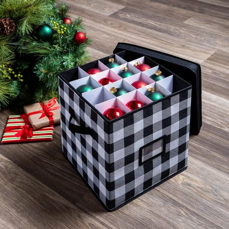 99545_KSP_Christmas_Soft_Storage_'64_Compartment'_Fabric_Ornament_Box