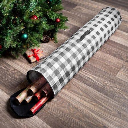99546_KSP_Christmas_Soft_Storage_'Farmhouse'_Fabric_Gift_Wrap_Bag