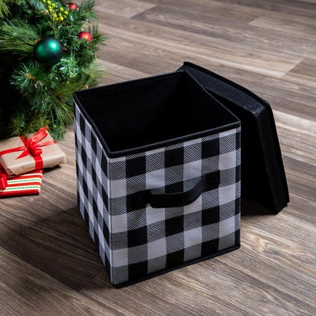 99548_KSP_Christmas_Soft_Storage_'Farmhouse'_Fabric_Box_with_Lid