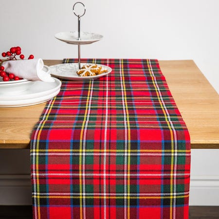 99557_Harman_Christmas_Red_Check_Cotton_Table_Runner__Red