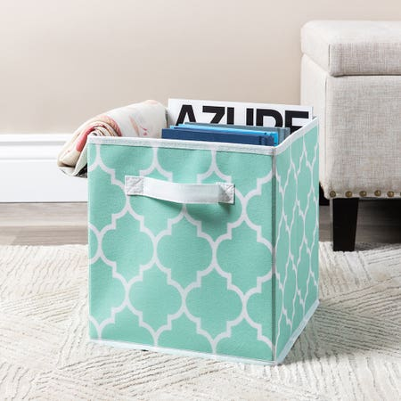 99558_KSP_Collapsible_'Ogee'_Non_Woven_Storage_Bin__Light_Blue