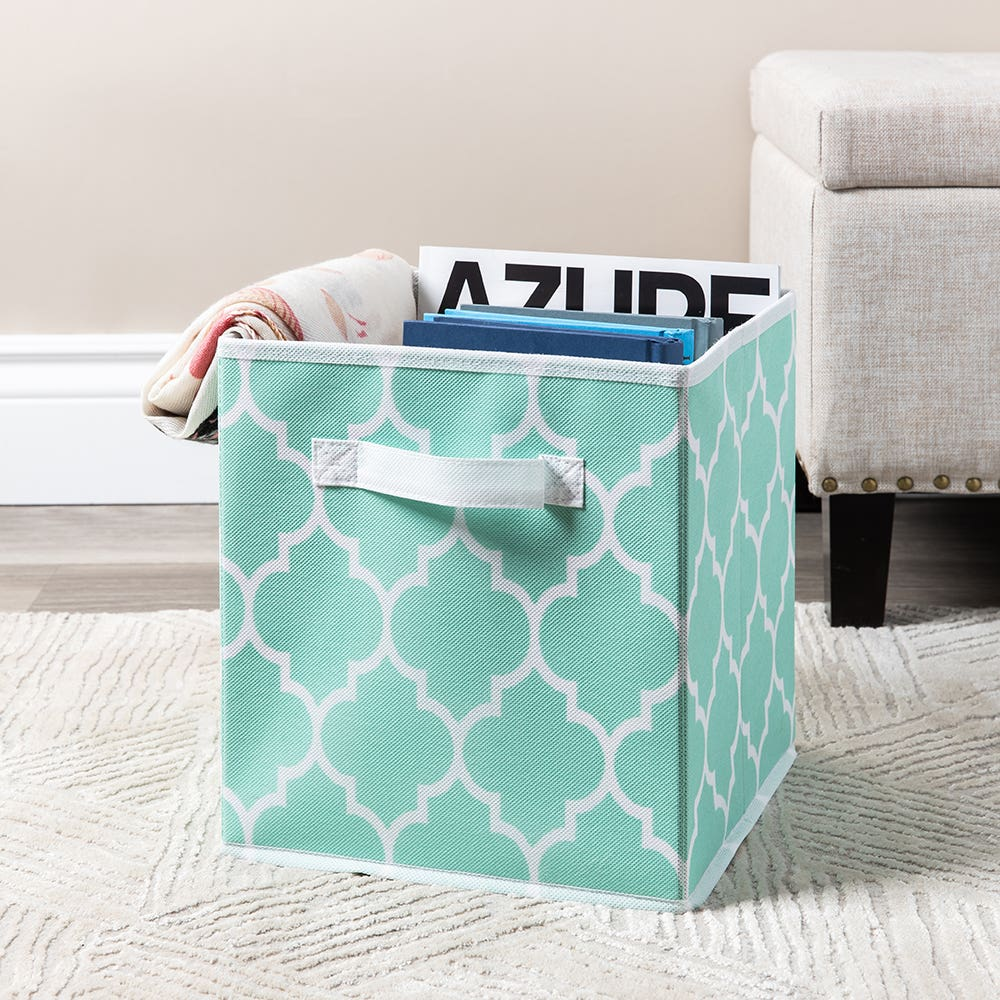 KSP Collapsible 'Ogee' Non-Woven Storage Bin (Light Blue)