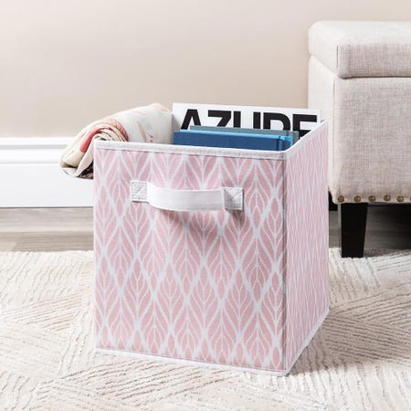 99559_KSP_Collapsible_'Feather'_Non_Woven_Storage_Bin__Dusty_Pink