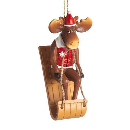 99610_Christmas_Deco__'Canadian_Moose_Sledding'_Ornament