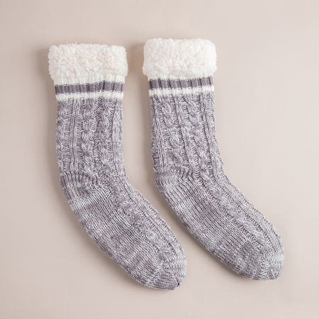 Harman Kozie Super Plush Grey Lounge Socks