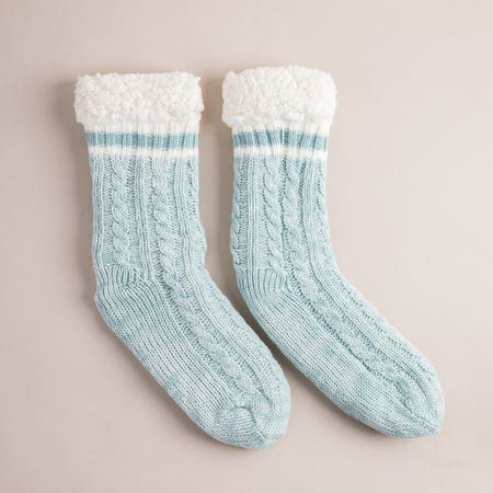 Harman Kozie Super Plush Aqua Lounge Socks