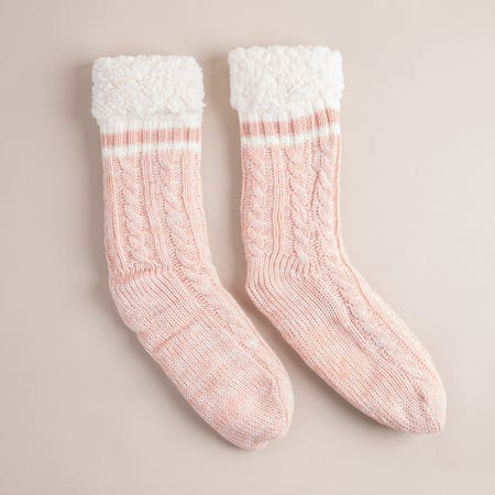 Harman Kozie Super Plush Pink Lounge Socks
