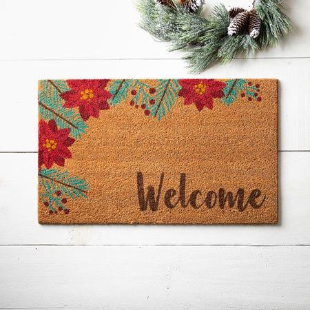 99661_KSP_Christmascoir_'Poinsettia'_Coir_Doormat__Multi_Colour