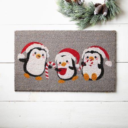 99663_KSP_Christmascoir_'Penguin'_Coir_Doormat__Multi_Colour