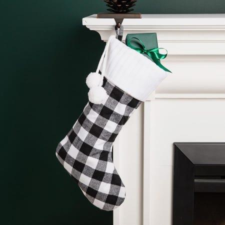 99702_KSP_Christmas_Farmhouse_Stocking_with_Fur_Cuff__White_Black