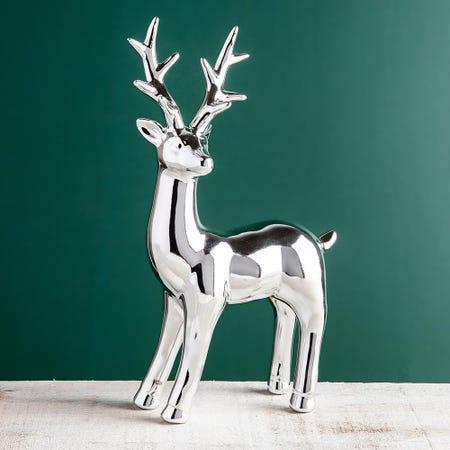 99710_KSP_Christmas_Woodland_Ceramic_Reindeer_Standing__Silver
