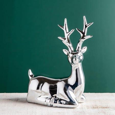 99711_KSP_Christmas_Woodland_Ceramic_Seated_Reindeer__Silver