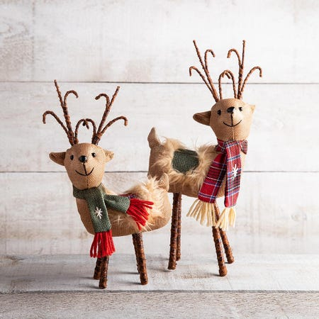 99723_KSP_Christmas_Decore_'Reindeer'_Fabric_Figurine__5__x_13