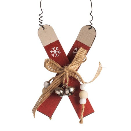 99740_KSP_Christmas_Natura_'Skis'_Wooden_Ornament__Red