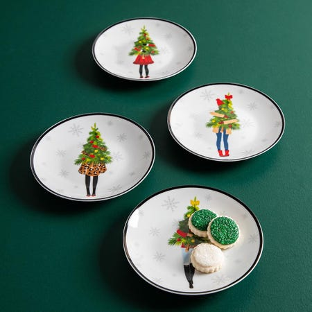 99762_KSP_Christmas_Cheer_'Holidaynista'_Porcelain_Cocktail_Plate___Set_of_4